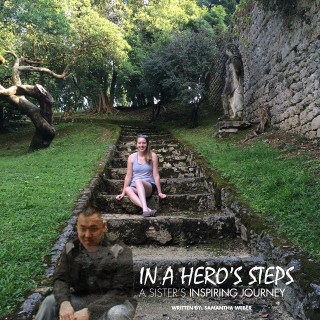 in a hero's steps