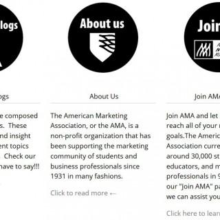 AMA Website Home Page 2