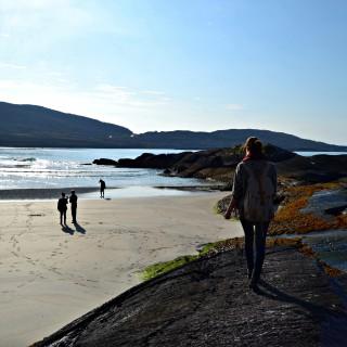 Allison on the coast in Derrynane, Ireland.