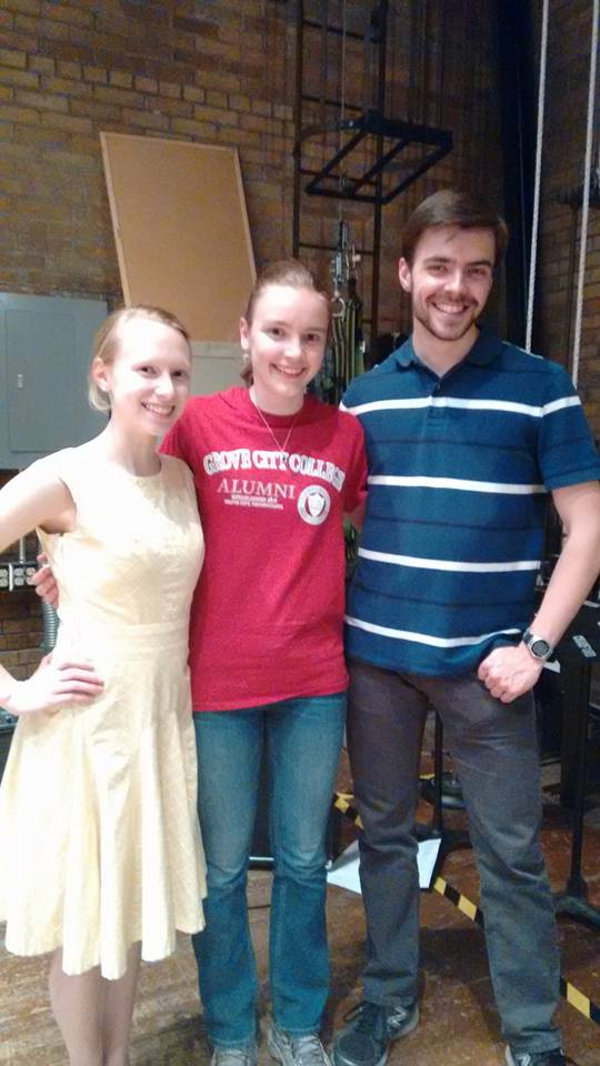 2014-2015 club president Victoria Allen (center) with current president Bradley Smith and VP Maria Dunsworth