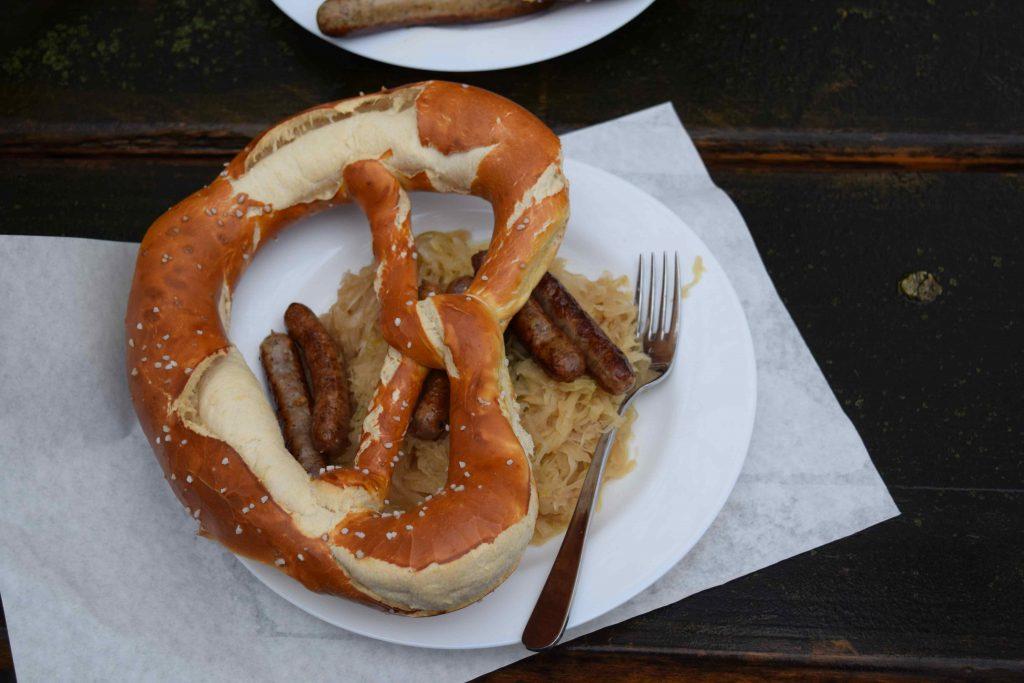 German Sausages at a Christmas Market
