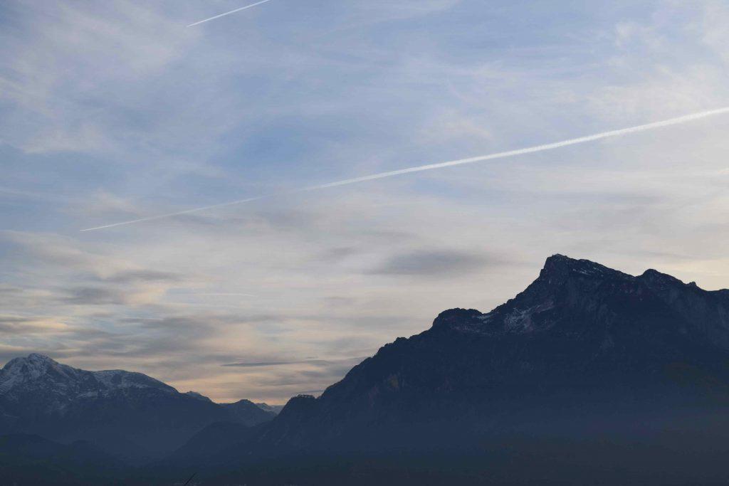 We watched the sun set on Salzburg.