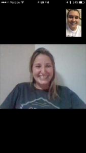 Junior Sarah Kuhn and I discussing her study abroad experience to Grenada, Spain over a lovely video call.