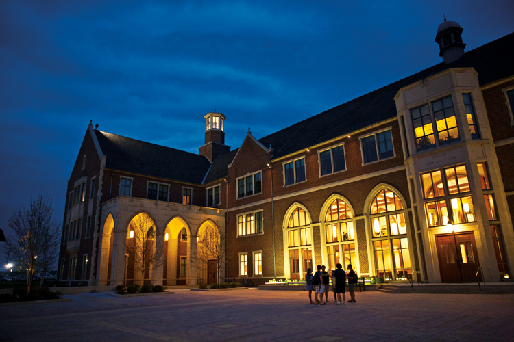 The Beautiful Hall Of Arts And Letters At Night.