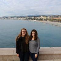 Alex Heiman (left) and Jocelyn Halliley in Nice, France