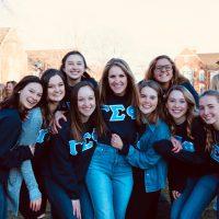 Sisters of the Gamma Sigma Phi Sorority